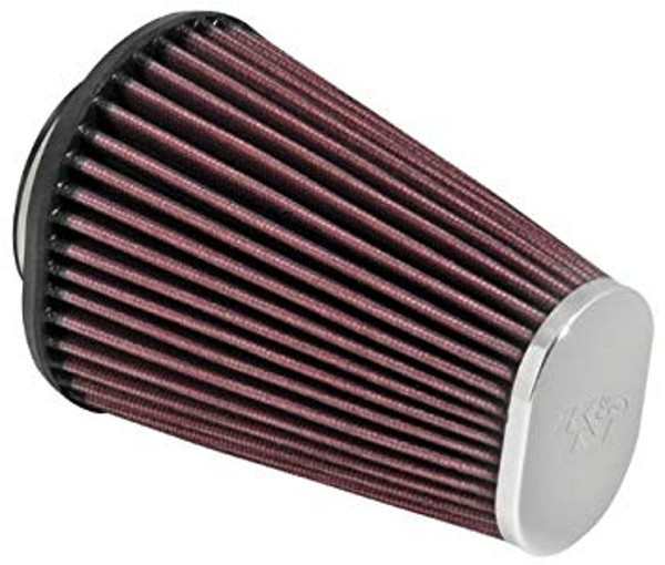 Oval K&N performance air filter, 60-64 mm