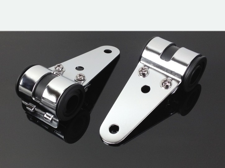 Headlight brackets short for fork Ø 31-36mm, chrome
