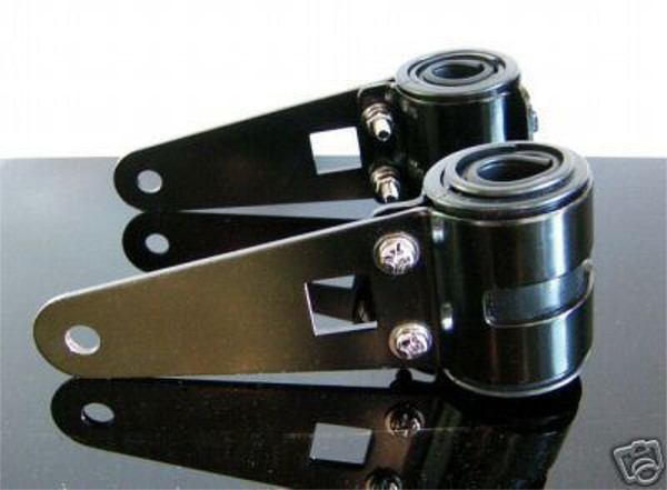 Headlight BRACKETS Aluminium black Ø43-48mm