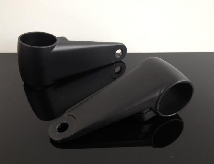 Alu-LAMPENHALTER 32 bis 41 mm, schwarz matt