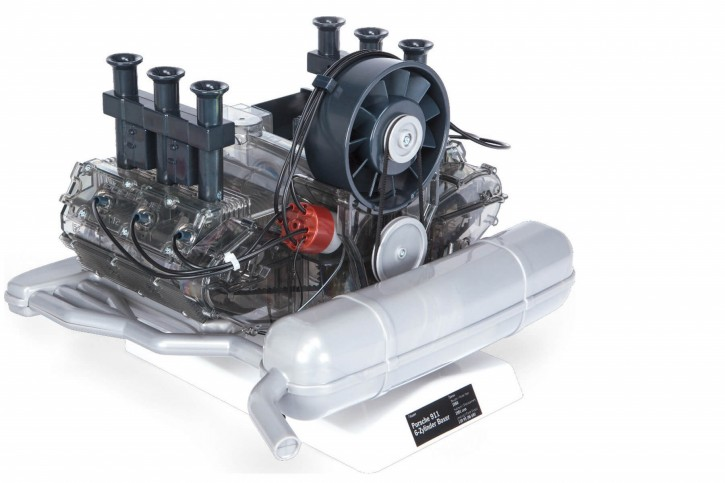 WORKING MODEL BUILDING SET of a PORSCHE 911-Boxer-Engine, Scale 1:4