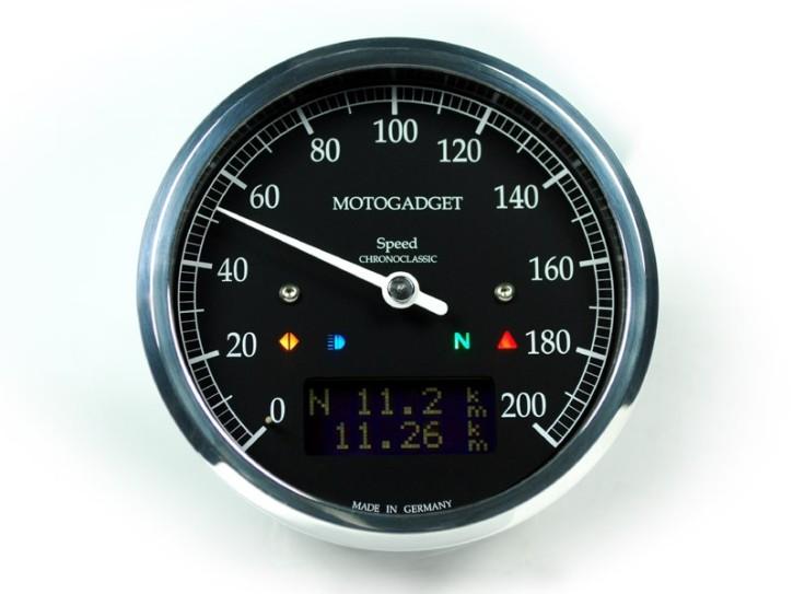 Tacho MOTOGADGET motoscope CHRONOCLASSIC speedo