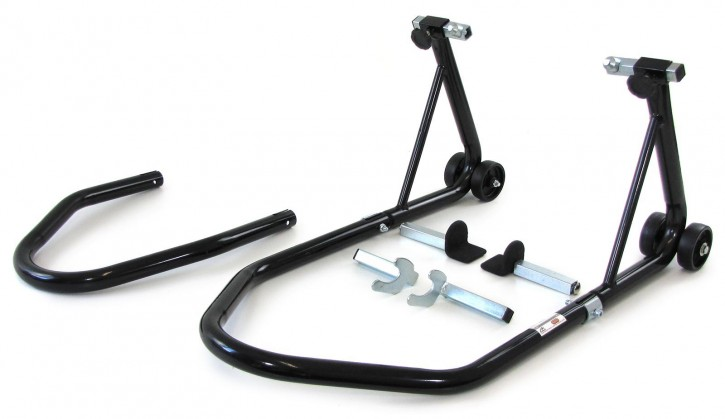 MOTORCYCLE STAND, front rear wheel paddock lift, load up to 340kg