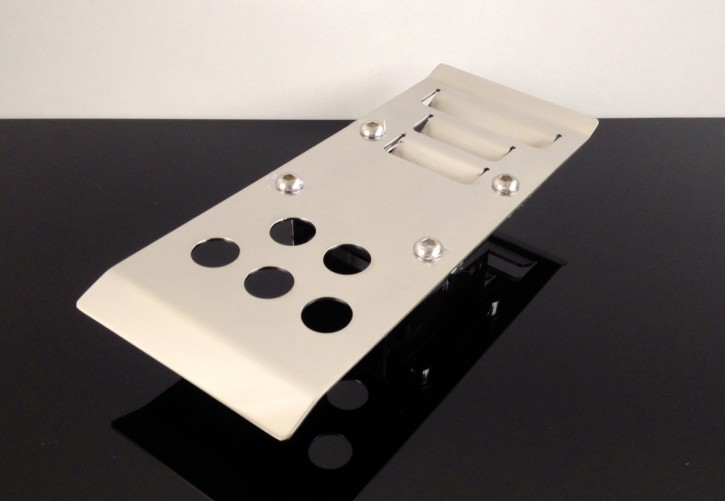 highly polished stainless steel skid plate for Kawasaki W 650
