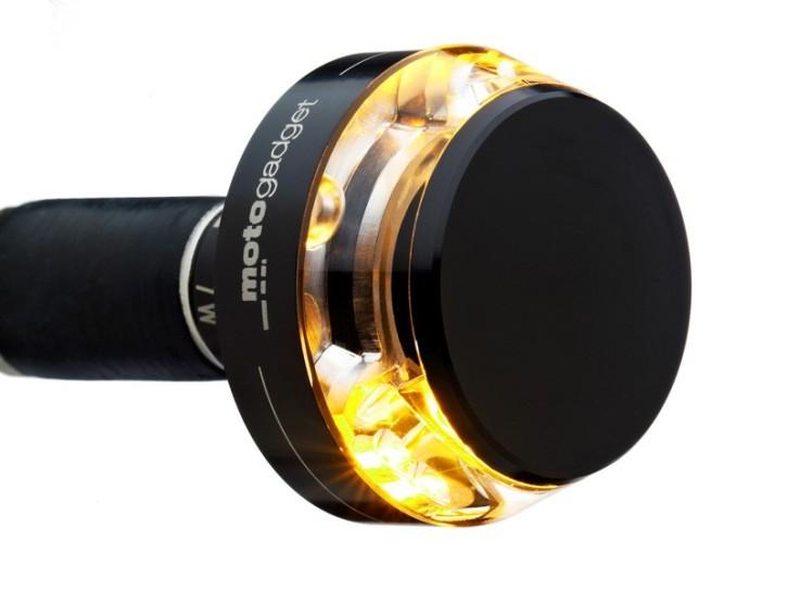 2 Lenkerendblinker Motogadget m.blaze disc, schwarz eloxiert