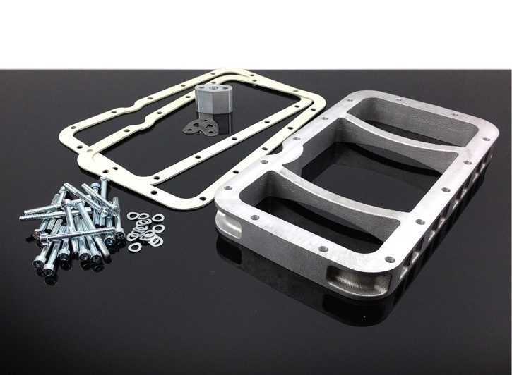 OIL PAN ADAPTER for all BMW R-models: +1,3 liters more oil!