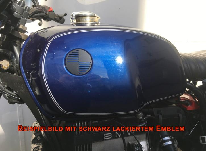 """2x BMW-LOGO/Emblem """"Propeller"""" R- Modelle, Alu, Ø70mm"""