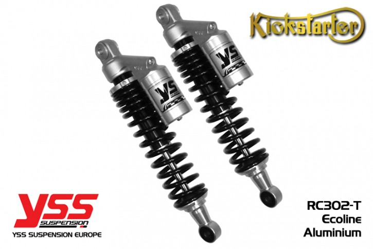 2 YSS-Shocks, RC302, 280-420mm, aluminium silver