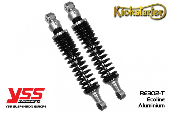 2 YSS-Shocks black, RE302, 270-420mm, aluminium and black