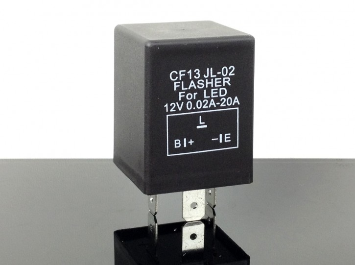 Electronic flasher relay universal and for LED