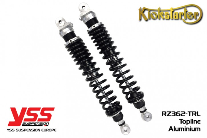2 YSS-Shocks RZ362-TRL-A, 280-500mm, aluminium and black