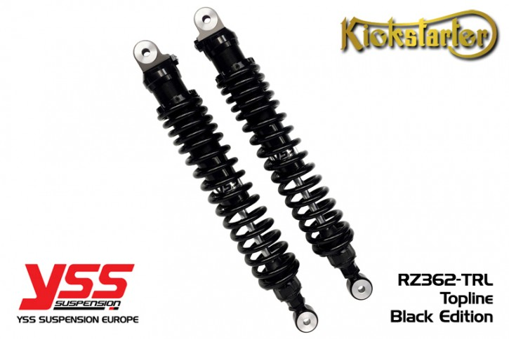 2 YSS-Stoßdämpfer RZ362-TRL-B, 280-500mm, schwarz mit schwarz