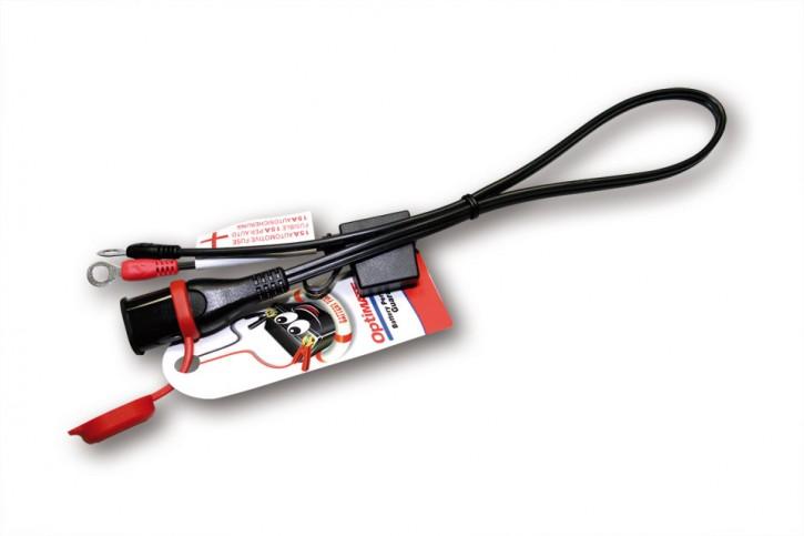 Wasserdichtes Batterie-LADEKABEL von OPTIMATE, festes Ösenkabel m. SAE-Stecker