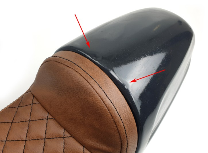2nd Choice: Cafe-Racer-Soloseat, Imola-Style, brown