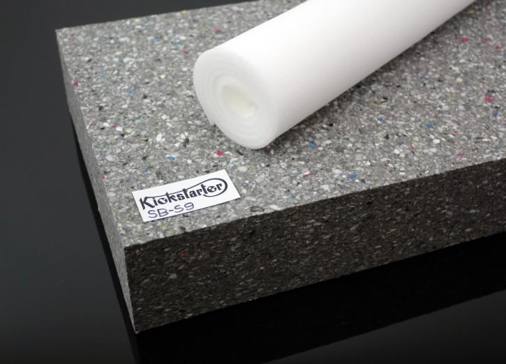 Seat FOAM BLOCK, high density 9cm + foam sheet for egalization