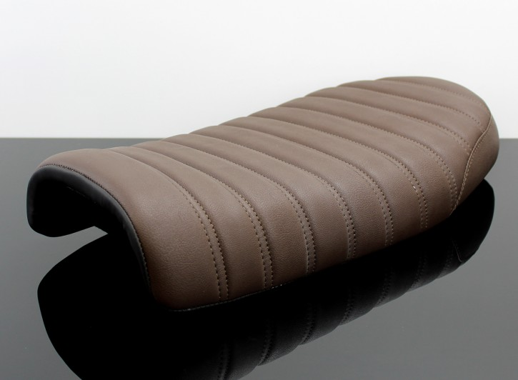 SEAT, universal, dark brown, twin seam