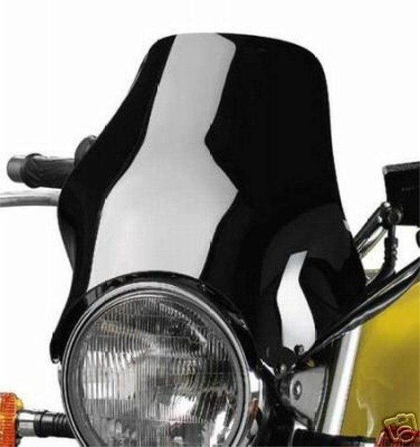 black windscreen / windshield / front shield