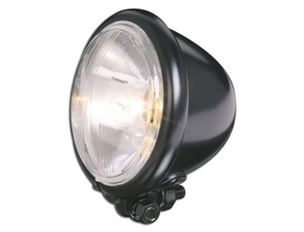 Headlight, Bates style, black, 12cm