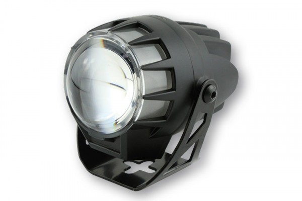LED headlight DUAL-STREAM, black, Ø45mm Lense