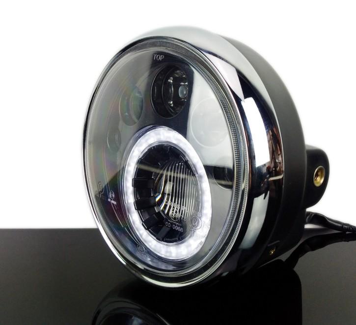 LED-SCHEINWERFER mit Standlichtring, schwarz
