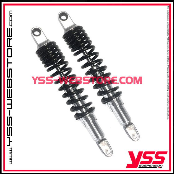 2 YSS-Shock-Absorber RD222P-C, 310mm-365mm for HONDA, chrome or black