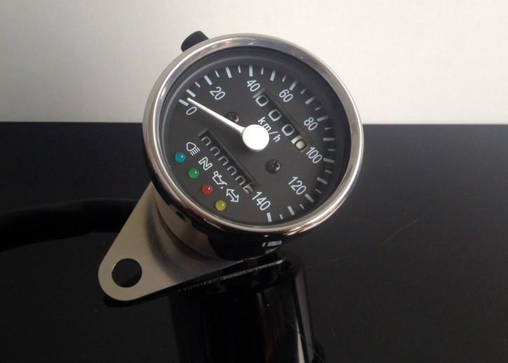Tachometer 60mm, mit Kontrollleuchten, K=1,4