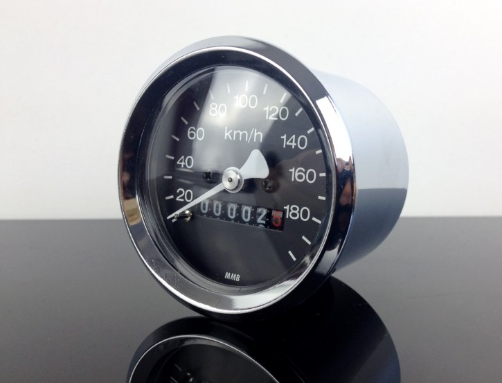 Mini-Tacho für BMW, 60mm, CHROM, R 65 80 100 RT RS /5 /6 /7