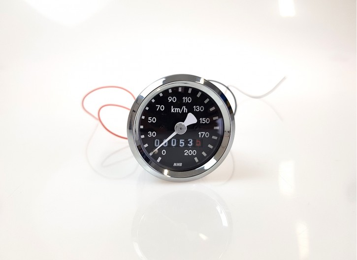 B-Ware: Mini-Tacho, für BMW, 48mm, CHROM, R 65 80 100 RT RS /5 /6 /7