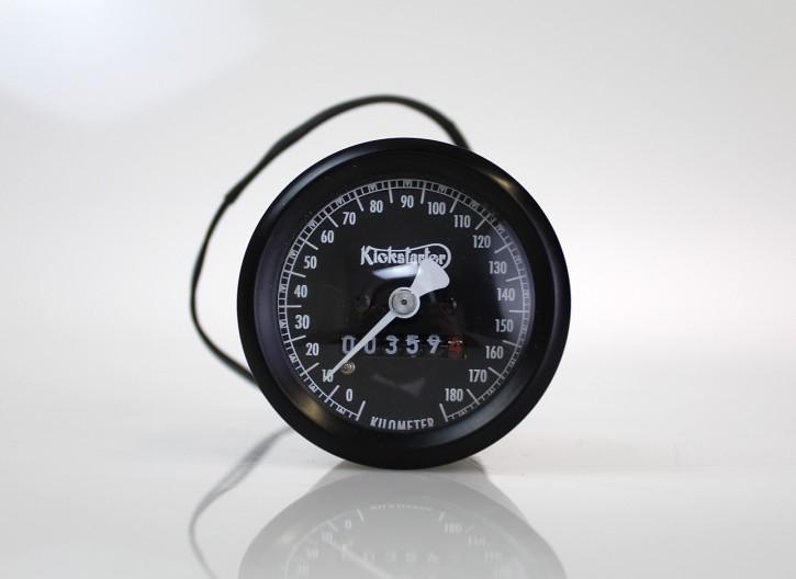 B-Ware: Tachometer, KICKSTARTER-Edition SMITH-Style, schwarz, 60mm, K=1,4