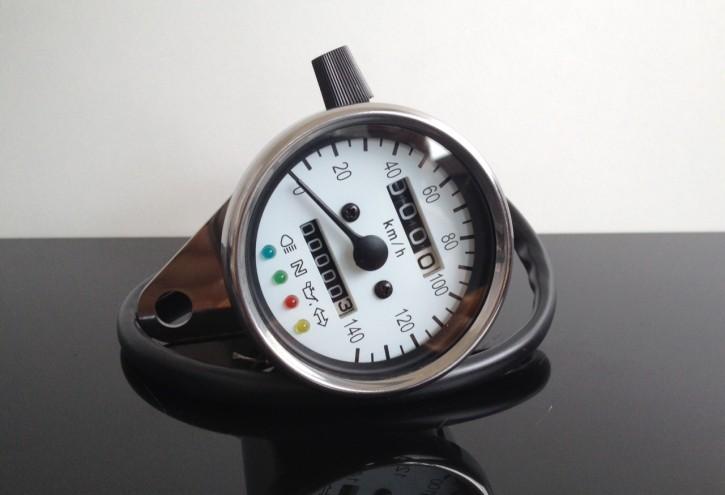 TACHO Tachometer SPEEDOMETER 60mm mit Kontrollleuchten K=1,4 (f.Japaner) 140 km/h