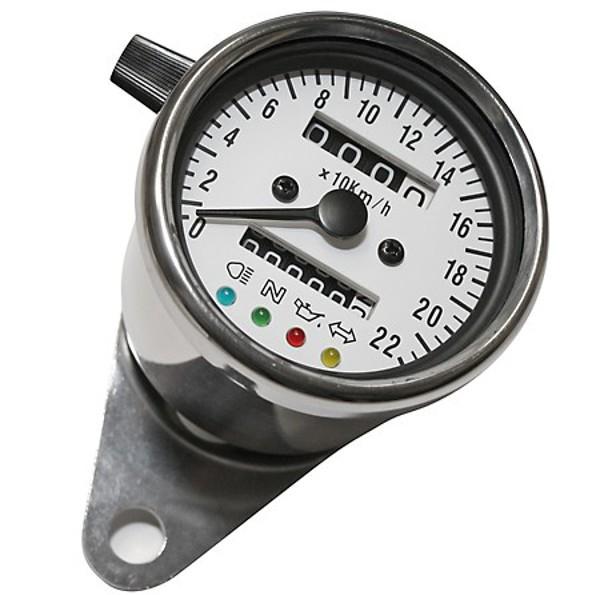 TACHO Tachometer SPEEDOMETER 60mm mit Kontrollleuchten, K=1,4