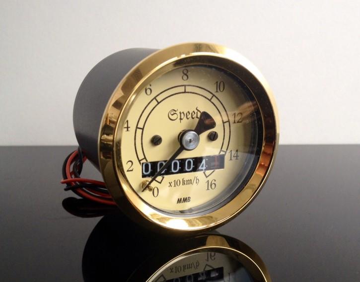 Mini-Tachometer TACHO speedo, vintage / classic, 48mm, k=1,0 f.OLDTIMER