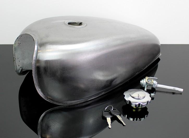 Motorcycle FUEL TANK, unpainted Steel, universal