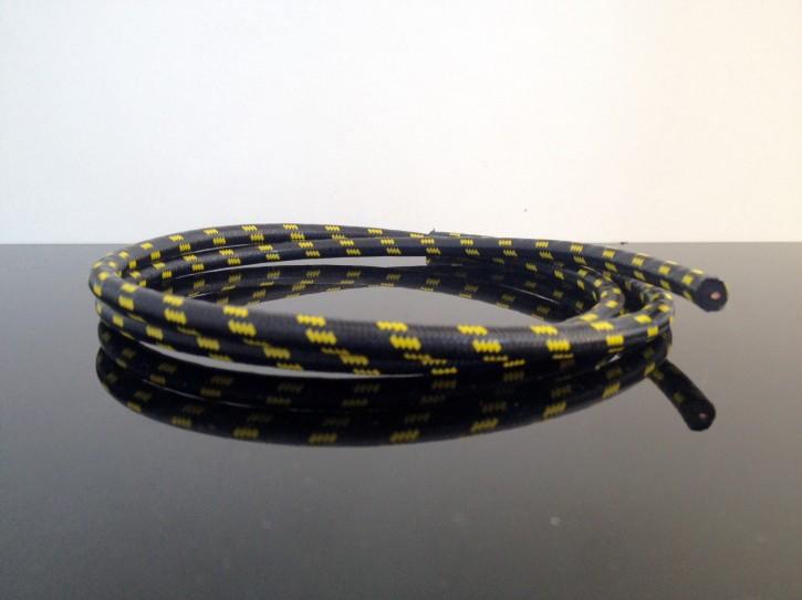 Textilumflochtene Zündkabel 7mm schwarz-gelb