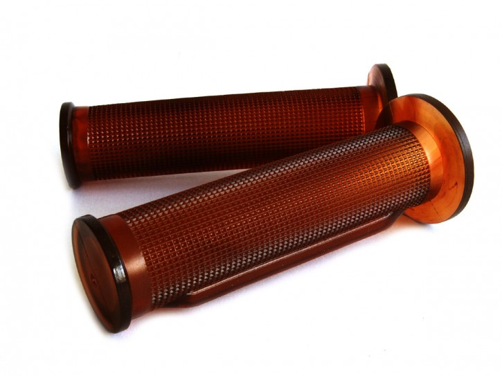 2 ARIETE grips, translucent brown