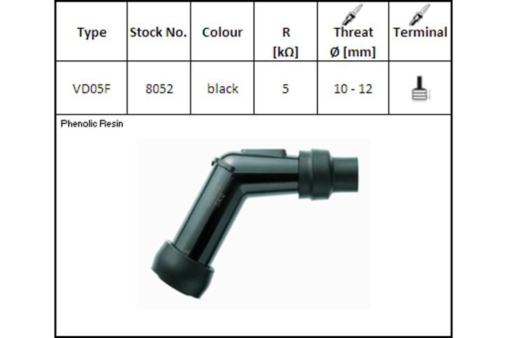 NGK Spark plug connector, VD-05 F, for 12 mm,120°