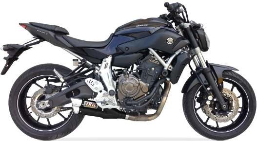 IXIL Hyperlow black XL stainless steel complete system for YAMAHA MT-07, XSR 700 (Euro3+4)