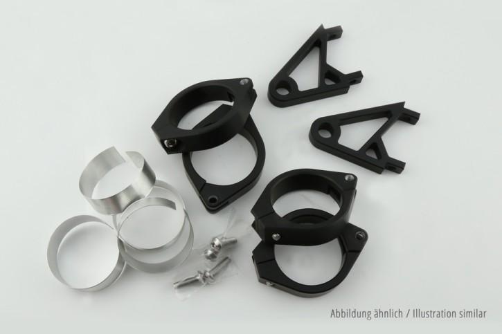 Lampenhalter Set XS für 47-54 mm Ø, schwarz