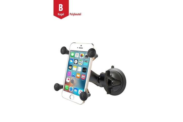 RAM Mounts Saugfußhalterung mit X-Grip Universal Halteklammer für Smartphones