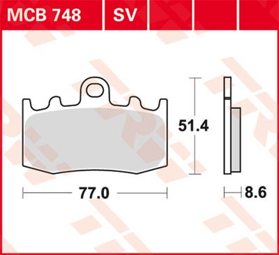 TRW Lucas Sinterbelag MCB748SV