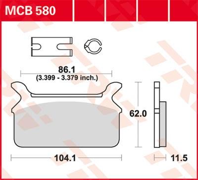 TRW Lucas Disc brake pad MCB580