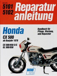 Motorbuch Engine book No. 5101 repair instructions HONDA CX 500/650 (1978-)
