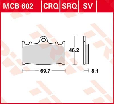 TRW Lucas Sinter disc brake pad MCB602SV