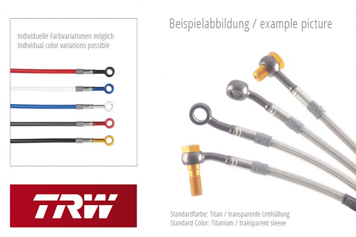 TRW Lucas Steel braided hoses kit MCH634V4, front