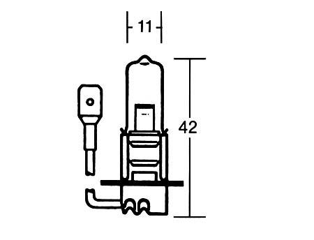 H3 Glühlampe 12V 55W, PK 22S