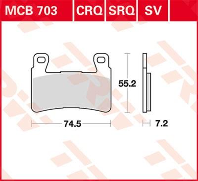 TRW Lucas Bremsbelag MCB703
