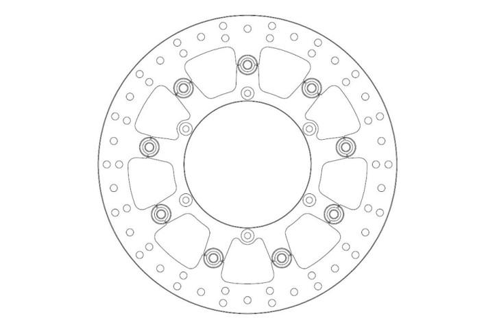 FERODO Brake disc FMD0275 RF