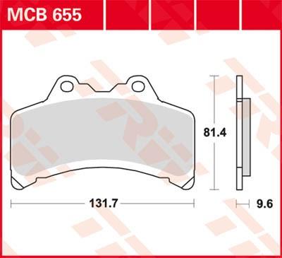 TRW Lucas Disc brake pad MCB655
