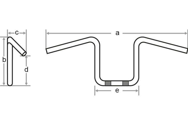 FEHLING FAT-APE HANGER for H-D throttle by wire, 1 1/4 inch, H30, chrome