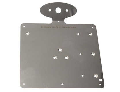 Genscher Plate for license plate with 255-955
